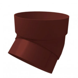 Колено сливное ПВХ GrandLine 45град шоколадное