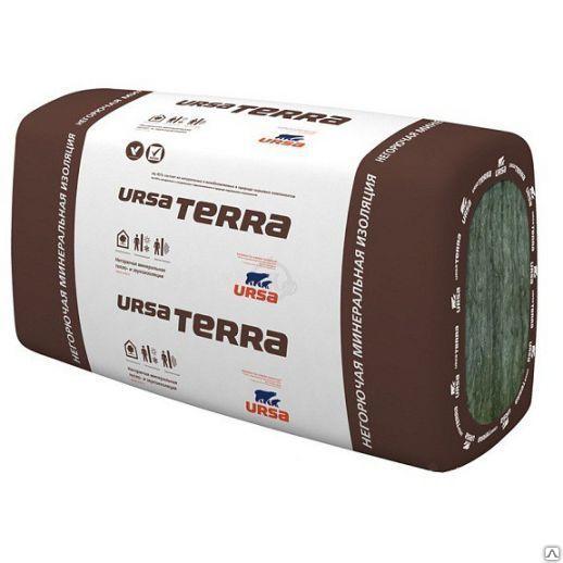 URSA TERRA P40 50 mm x 1.25 m x 0,6 m (9 м2 упак.) Плиты теплоизоляционные