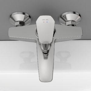 Смеситель для ванны/душа GEM излив 175 мм хром F9010000
