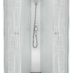 Душевая кабина Стандарт A 100*100 ДН3, Квадраты, полукруг, низкий поддон