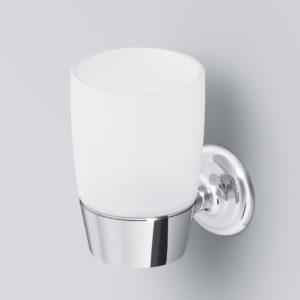 Стеклянный стакан с настенным держателем LIKE A8034300