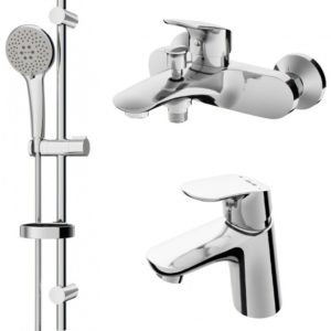 Набор смесителей LIKE: смеситель для умывальника, ванны/душа, душевой комплект F4098000