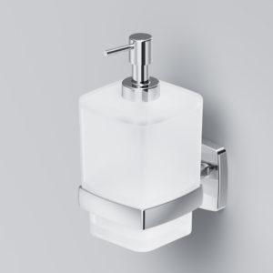 Стеклянный диспенсер для жидкого мыла с настенным держателем GEM A9036900