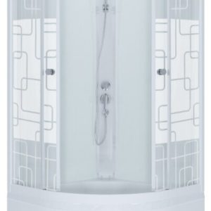 Душевая кабина Ультра Б 90*90 ДН3, полукруг, глубокий поддон
