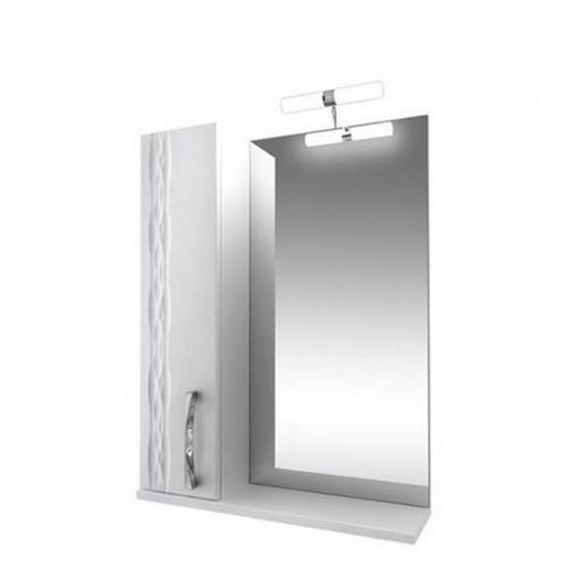 Зеркало 80 Кристи подсветка, шкаф левый