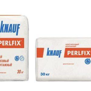 Монтажный клей на гипсовой основе для гипсокартонных листов и гипсоплиты Knauf Perflix