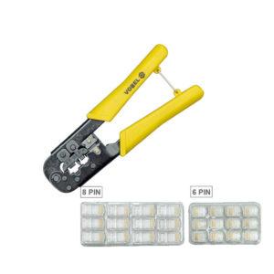 Клещи для обжима кабельных наконечников RJ45 RJ11 Vorel 45503