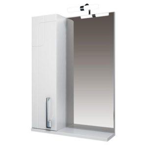 Зеркало 55 Диана подсветка, шкаф левый