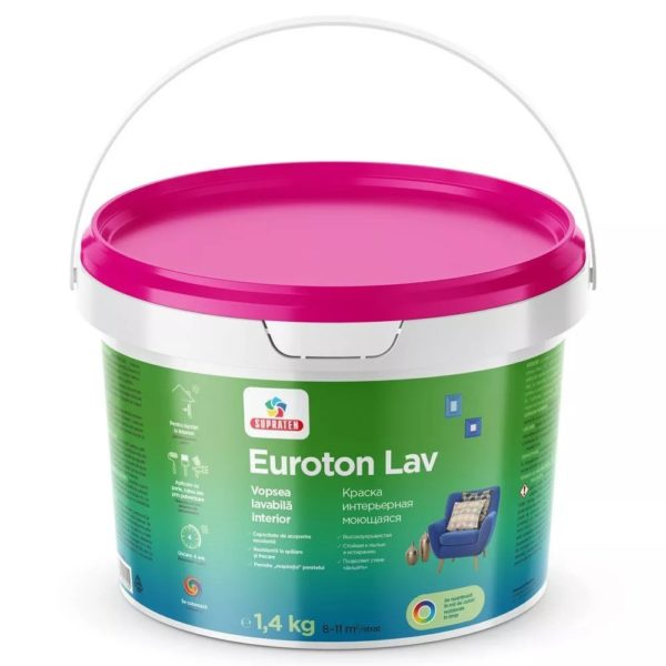 EUROTON LAV  1.4 кг - Краска интерьерная моющаяся