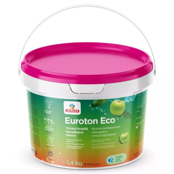 Краска интерьерная EUROTON ECO 14кг