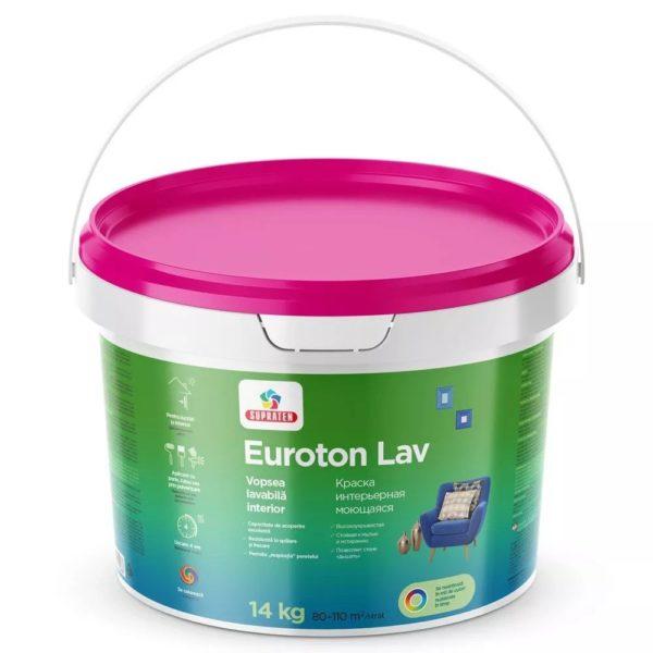 EUROTON LAV B-0  14 кг - Краска интерьерная моющаяся