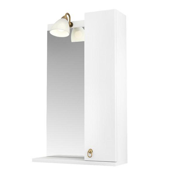 Зеркало 50 Реймс подсветка, полка,  шкаф правый