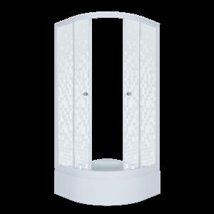 Душевое ограждение Стандарт 90*90 В Мозайка, полукруг, средний поддон